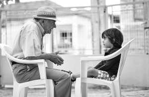 Conversation with a grandchild